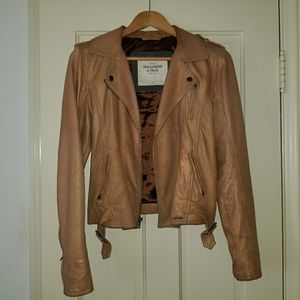 Gold 100% Suede/Leather Abercrombie Jacket